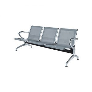 Powder Coated Steel Airport Waiting Chair T-A